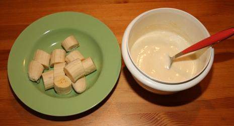 Teig Banane frittieren