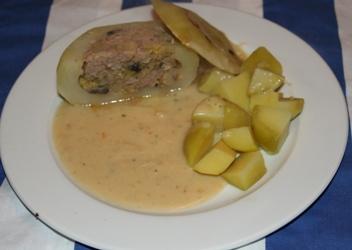 gefüllte Ofenkohlrabi mit Kartoffeln