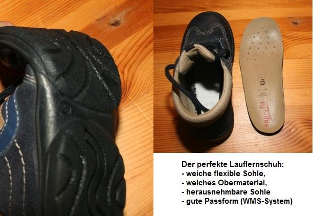 Anforderungen an Schuhe für Lauflernanfänger