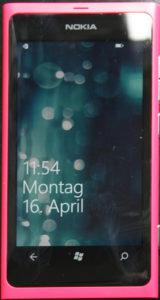 Nokia Lumia 800 Standby/Bildschirmschoner