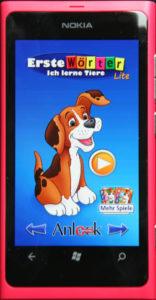 Nokia Lumia 800 Erste Wörter Startbildschirm