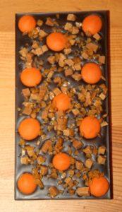 individueller Schokospaß, dunkle Schokolade mit Orangengeschmack