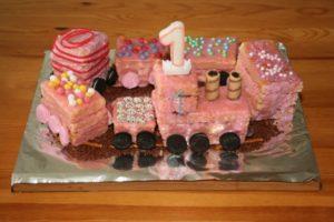 Eisenbahnkuchen rosa