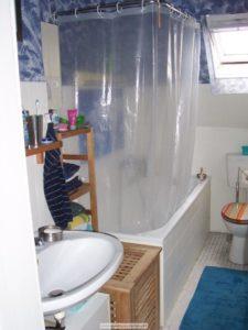 Badezimmer Duschvorhang mit Klemmstange