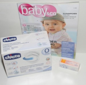 Stilleinlagen und Babyzeitschrift