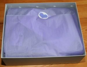 Seidenpapier lila