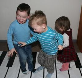 Klavier für den Boden