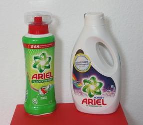 Colorwaschmittel und Fleckentferner von Ariel