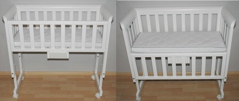 Babybett mit Seitenwand zum Klappen