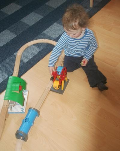 Der Zwerg und seine Eisenbahn