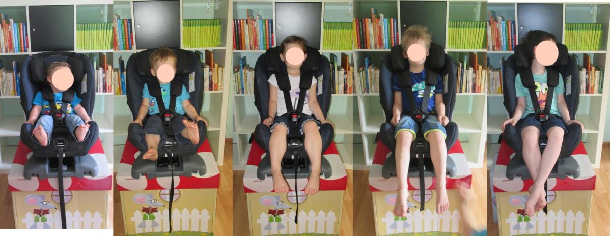 Mehrere Kinder im Axkid Rekid, Vergleich