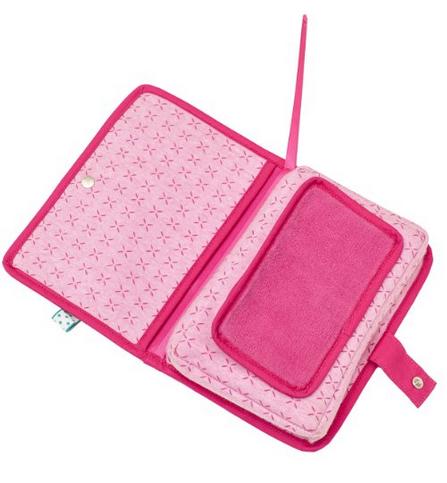Tasche für Windeln und Feuchttücher rosa