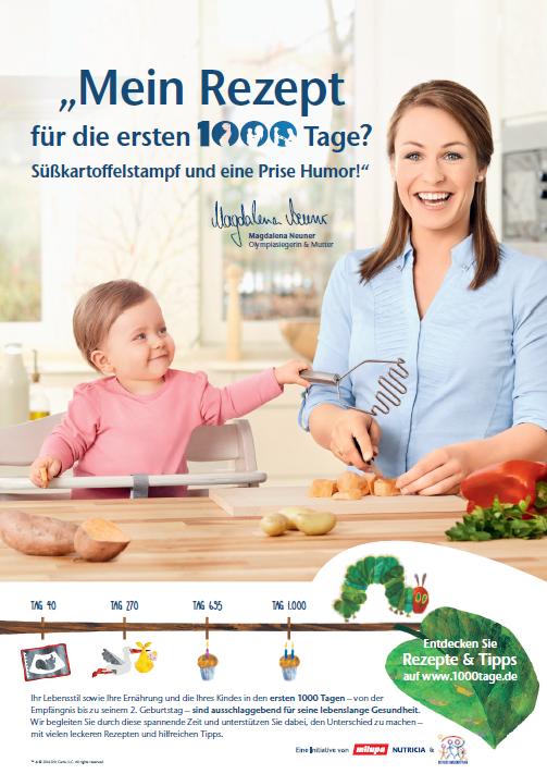 Magdalena Neuner Werbespot Rezept Raupe Nimmersatt Milupa