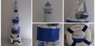 Windeltorte Leuchtturm Anker Schiff
