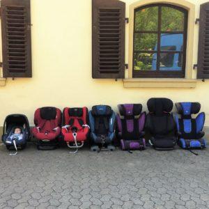 7 Kinder, 7 Kindersitze
