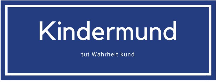 Kindermund Logo blau